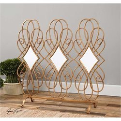 Lilou Mirrored Fireplace Screen