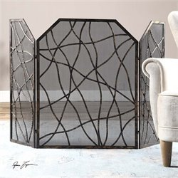 Uttermost Dorigrass Metal Fireplace Screen