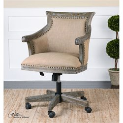 Uttermost Kimalina Linen Accent Chair