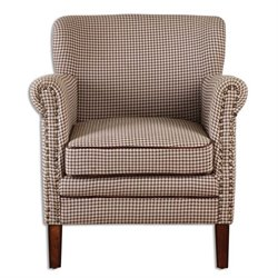 Uttermost Tinsley Hounds-Tooth Club Chair