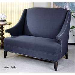 Uttermost Honesta High Back Loveseat in Slate