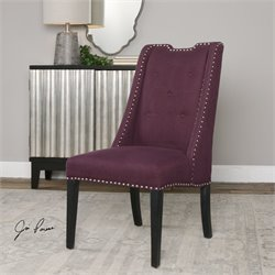 Uttermost Pippa Accent Chair in Purple