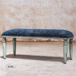 Uttermost Femi Seaglass Green Bench