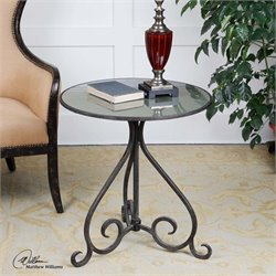 Uttermost Poloa Mirrored Accent Table