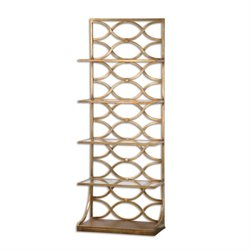 Uttermost Lashaya 5 Shelf Etagere in Gold