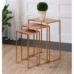 Uttermost Copres Oxidized Nesting Tables