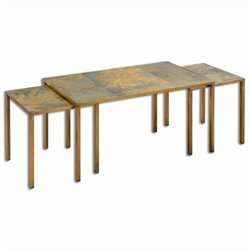 Uttermost Couper Oxidized Nesting Coffee Tables