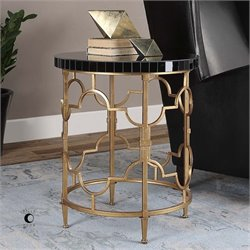 Uttermost Mosi Gold Black Accent Table