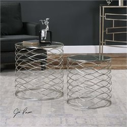 Uttermost Aida Iron Cage Accent Tables (Set of 2)