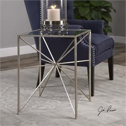 Uttermost Silvana Silver Side Table
