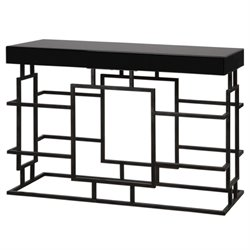 Uttermost Andy Console Table in Black
