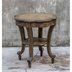Uttermost Matahari Aged Accent Table