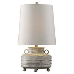 Uttermost Magothy Table Lamp in Textured Metal
