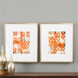 Uttermost Overlapping Teal And Orange Modern Art (Set of 2)