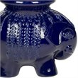 Safavieh Ceramic Elephant Stool in Navy