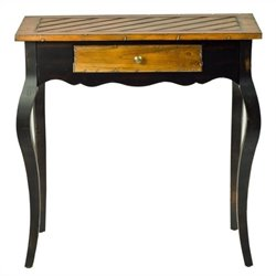 Safavieh Cooper Side Table with Drawer in Cherry and Black