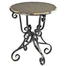 Safavieh Taylor Side Table with Scroll Base