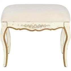 Safavieh Diane Fir Wood Hand-painted Bench in White