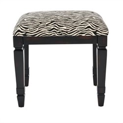 Safavieh Gertie Small Bench in Black and Zebra