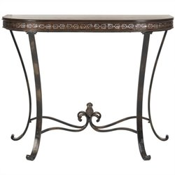Safavieh Richard Demilune Birch Wood Console in Brown