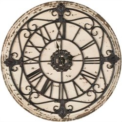 Safavieh Jerry Fir Wood Clock in Rustic