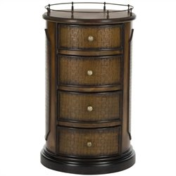 Safavieh Douglas Birch Wood Side Table in Brown