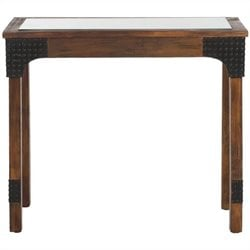 Safavieh Elmer Birch Wood Console in Dark Brown