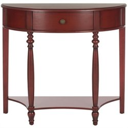 Safavieh David Birch Wood Console in Dark Brown