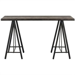 Safavieh Troy Fir Wood Console in Dark Brown