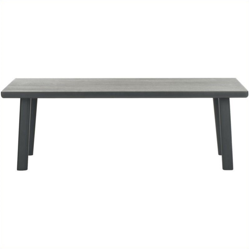 Safavieh Rocco Sungkai Wood Bench in Charcoal Grey
