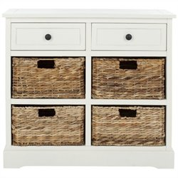 Safavieh Harry Wood Storage Unit in Cream