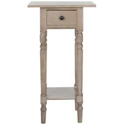 Safavieh Donna Wood Night Stand in Grey