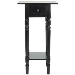 Safavieh Sabrina Wood End Table in Black