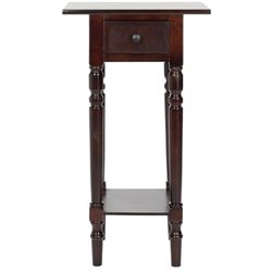 Safavieh Sabrina Wood End Table in Dark Cherry