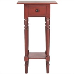 Safavieh Sabrina Pine Wood End Table in Red