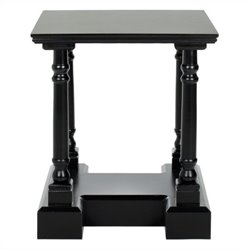 Safavieh Terry Wood End Table in Black
