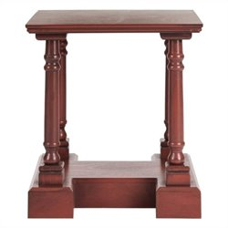 Safavieh Endora Pine End Table in Red