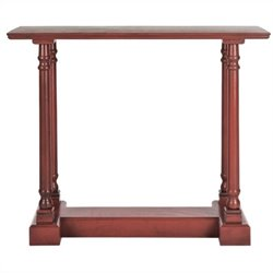 Safavieh Regan Pine Console Table in Red