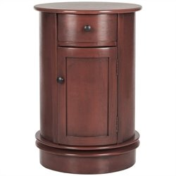 Safavieh Tabitha Oval Cabinet in Red
