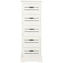 Safavieh Sarina Pine 5 Drawer Cabinet in Grey