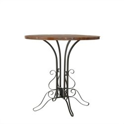 Safavieh Caper Fir Wood Accent Table in Black and Walnut
