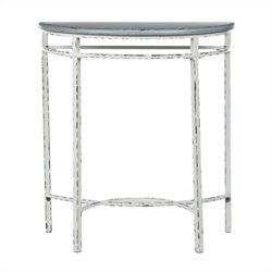 Safavieh Tessa Pine Wood Console in Gray and White