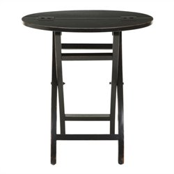Safavieh Becca Pine Wood Side Table in Black