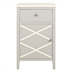 Safavieh Alan Poplar Wood End Table in Grey and White