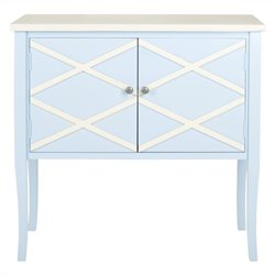 Safavieh Winona Poplar Wood Sideboard in Light Blue and White