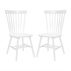 Safavieh Joslyn Oak  Dining Chair in White (Set Of 2)