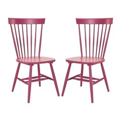 Safavieh Joslyn Oak  Dining Chair in Rasberry (Set Of 2)