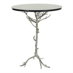 Safavieh Jason Granite Accent Table in Black and Silver