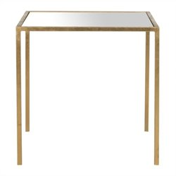 Safavieh Kiley Iron and Mirror Accent Table in Gold