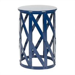 Safavieh Bertram Iron Stool in Navy